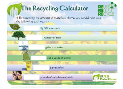 The Recycling Calculator